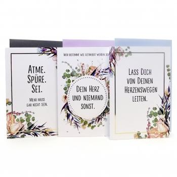 Trauerkarten Set